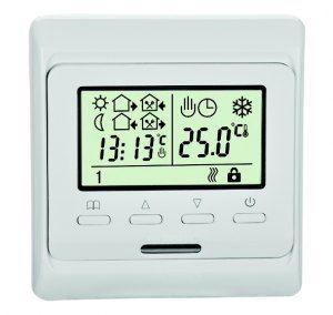 Терморегулятор RTC-51.716 для теплых полов (белый)