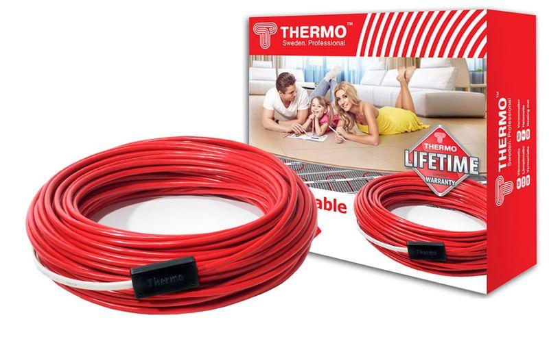 Нагревательный электрический кабель Thermo SVK-20 - длина 12 метров (площадь 1,5-2,5 м2)