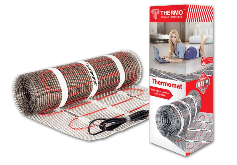 Нагревательный электрический мат Thermomat TVK-130 - 12 (площадь обогрева 12,0 м2)